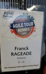 Franck Rageade orateur Agile Tour Rennes 2015